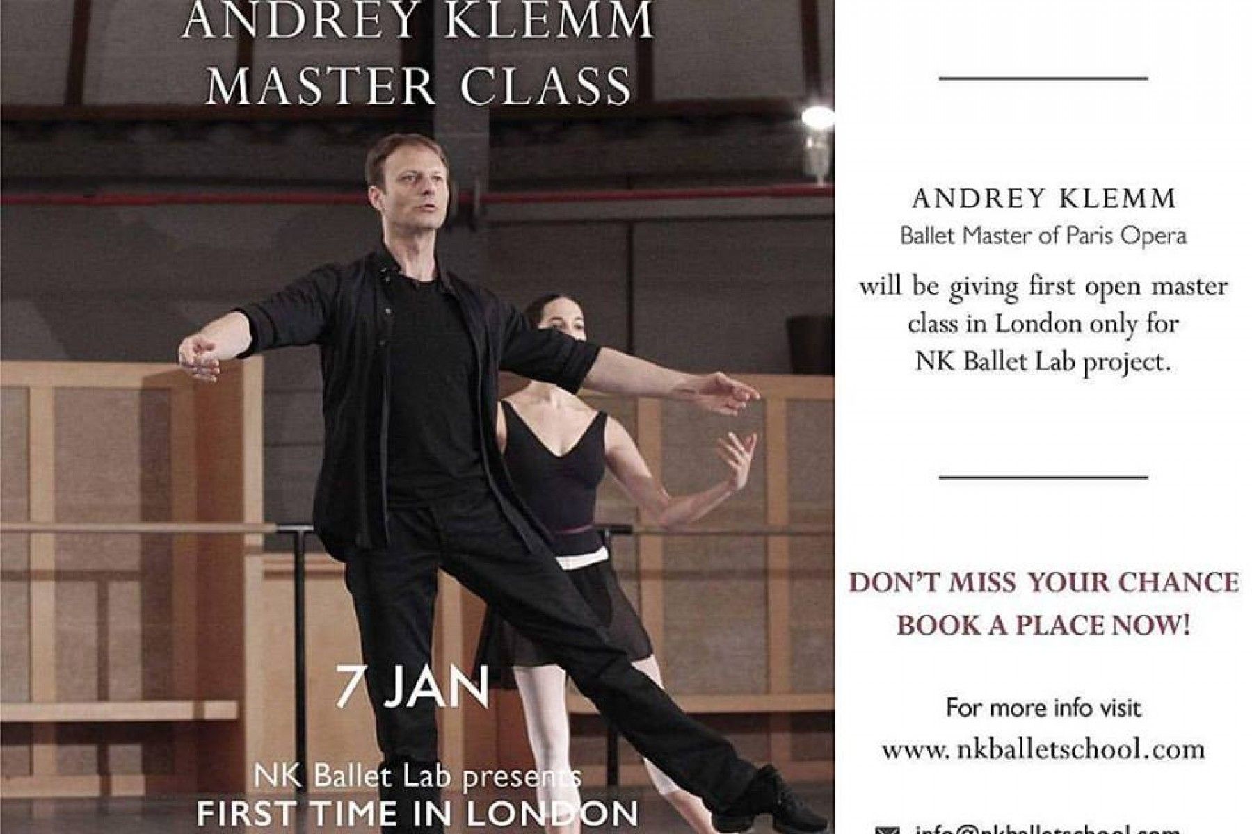 Master Class with Andret Klemm